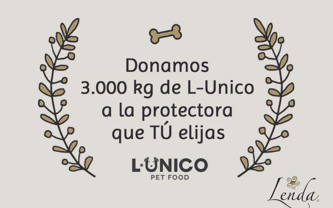 Donamos 3.000 kg de alimentación L-Unico a la protectora que tú elijas